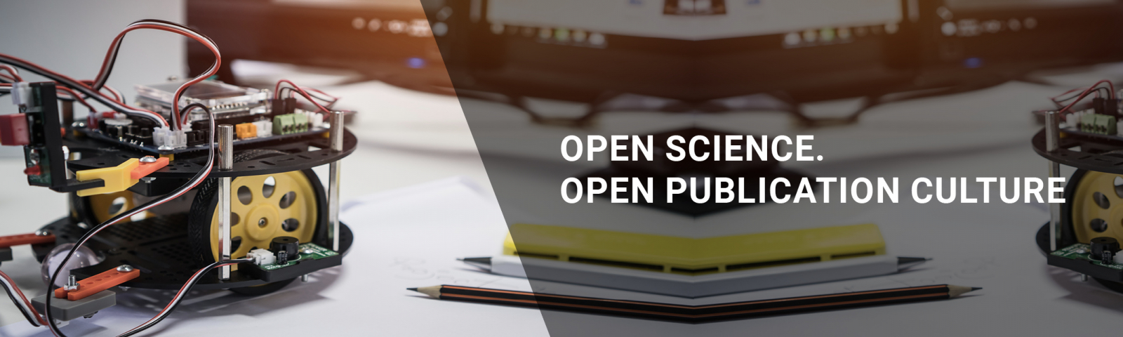 "A little robot and the writing ""Open Science. Open Publication Culture"""