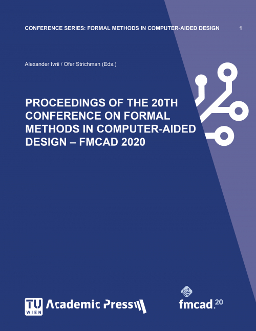 """Cover of the book """"PROCEEDINGS OF THE 20TH CONFERENCE ON FORMAL METHODS IN COMPUTER-AIDED DESIGN – FMCAD 2020"""""""