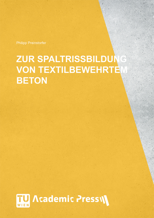 """Cover des Buches """"Zur Spaltrissbildung von textilbewehrtem Beton"""""""