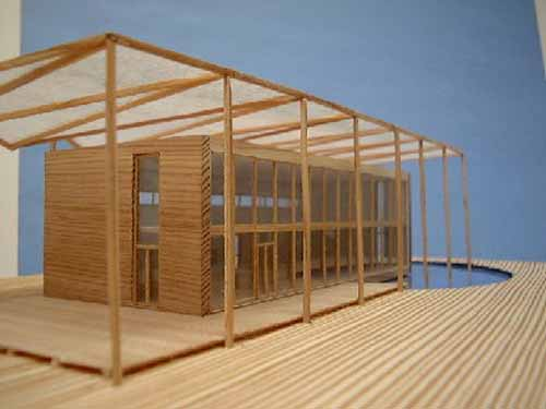 Abb.2: S House Modell, Süd West Ansicht